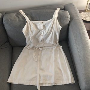 Adorable Cream Cotton Dress